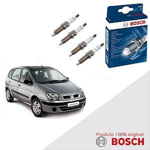 Kit Jogo Velas Original Bosch Scenic 1.6 16v Gas 99-01