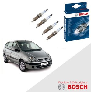 Kit Jogo Velas Original Bosch Scenic 1.6 16v Gas 01-10
