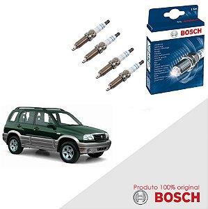 Kit Jogo Velas Original Bosch Grand Vitara 1.6 16v Gas 98-05