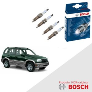 Kit Jogo Velas Original Bosch Grand Vitara 2.5 16v Gas 98-05