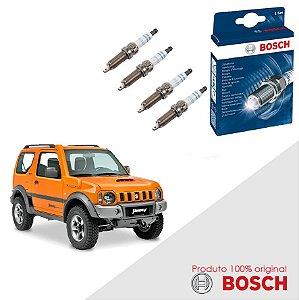 Jogo Velas Original Bosch Jimny 1.3 16v 82-86cv Gas 00-16