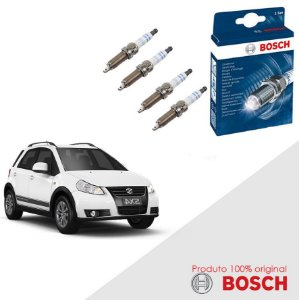 Kit Jogo Velas Original Bosch SX4 1.6 16v Gas 06-13