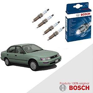 Kit Jogo Velas Original Bosch Corolla 1.6 16v Gas 97-99