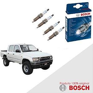 Kit Jogo Velas Original Bosch Hilux 2.7 8v Gas 98-05