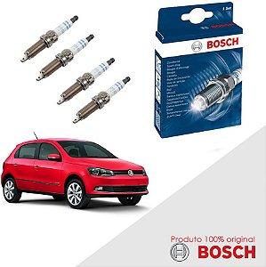 Kit Jogo Velas Original Bosch Gol G6 1.0 8v MSI Flex 12-17