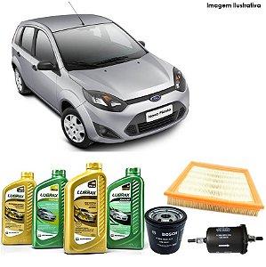 Kit Troca de Óleo Fiesta 1.6i Flex 10-14 e Filtros Bosch