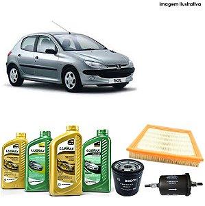 Kit Troca de Óleo 206 1.4i 04-05 e Filtros Bosch