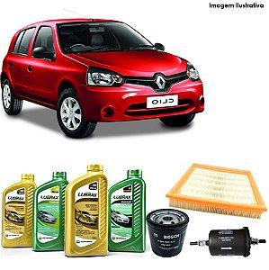 Kit Troca de Óleo Clio II 1.0i 8V 99-00 e Filtros Bosch