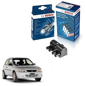 Cabo Velas Bobina Bosch Corsa 1.0 8v SOHC MPFI Gas 96-02