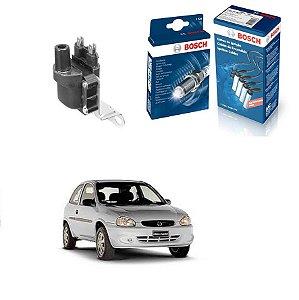 Cabo Velas Bobina Orig Bosch Corsa 1.4 8v SOHC EFI Gas 94-96