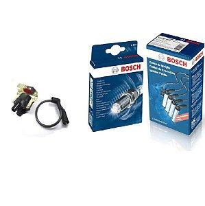 Kit Cabo Velas Bobina Orig Bosch Gol G2 1.6 8v AP Gas 95-97