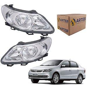 Par Farol Voyage G5 09-12 defletor logo VW cromo Arteb