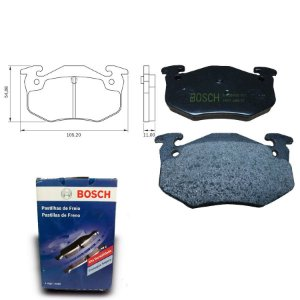 Pastilha de Freio Traseira  206 1.6 16V  05-08 Bosch