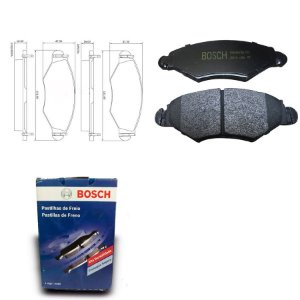 Pastilha de Freio Dianteira 207 1.4i  08-18 Orig. Bosch