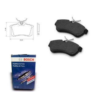Pastilha de Freio Traseira C3 1.6 16V 03-12 Original Bosch