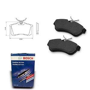 Pastilha Freio Traseira C3 Picasso 1.6 16V  11-12 Bosch