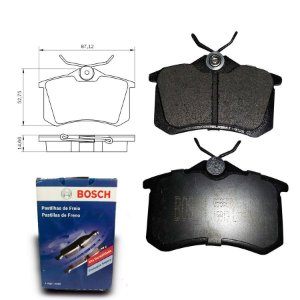 Pastilha de Freio Traseira C4 Lounge 1.6 THP 13-18 Bosch
