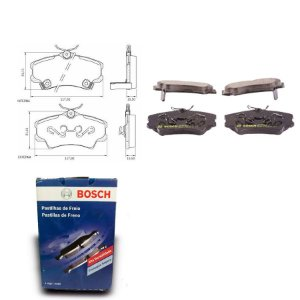 Pastilha Freio Dianteira CG4ic 1.8 16V Sedan  06-11 Bosch