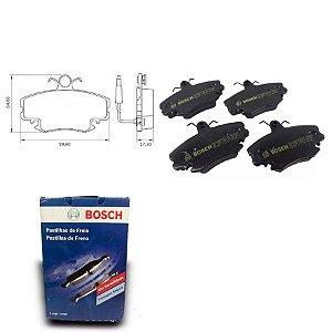 Pastilha Freio Dianteira Clio G2 Sedan 1.6 16V  04-09 Bosch
