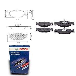 Pastilha de Freio Dianteira Corsa Sedan 1.0 MPFI 00-05 Bosch