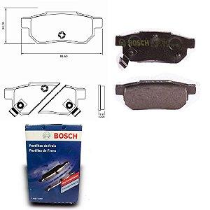 Pastilha de Freio Traseira Fit 1.5i 16V  08-14 Bosch