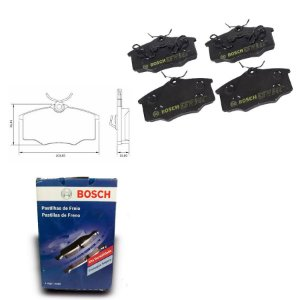 Pastilha Freio Dianteira Gol G5 1.6 I Motion 10-12 Bosch