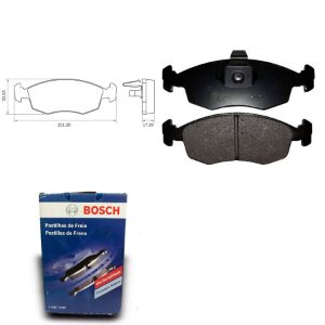 Pastilha de Freio Dianteira Idea 1.4  05-10 Orig. Bosch
