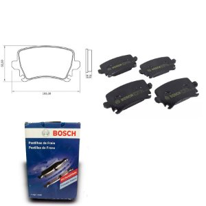 Pastilha de Freio Traseira New Beetle 2.0 07-10 Orig. Bosch