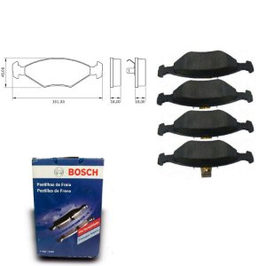 Pastilha de Freio Dianteira Premio 1.6 89-96 Original Bosch