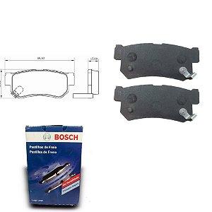 Pastilha de Freio Traseira  Rexton 3.2 i 4WD 02-09 Bosch