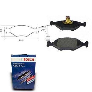 Pastilha Freio Dianteira Siena 1.4 MPI 8V  05-10 Bosch