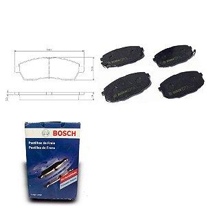 Pastilha de Freio Dianteira Sportage 2.7 4x4 07-10 Bosch
