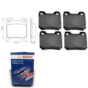 Pastilha Freio Traseira  Vectra 2.4 16V  05-09 Bosch