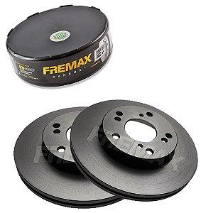 Par Disco Freio Dianteiro Civic Lxl 1.8 16V One 12-14 Fremax