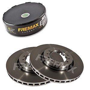 Par Disco Freio Dianteiro L200 Gl 2.5 8V 4D56 Vgt  99-06 Fremax