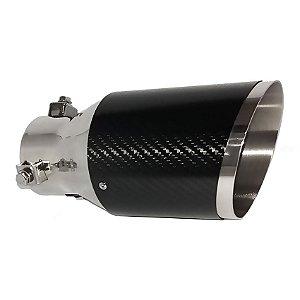 Ponteira Escapamento Luzian P001b Fibra De Carbono Aço Inox