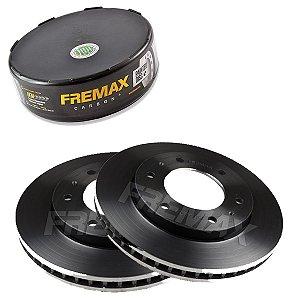 Par Disco Freio Dianteiro L200 Triton Glx Cd 3.2 16V  12-16