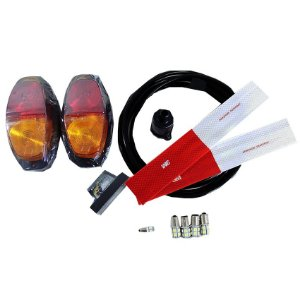 Kit Instalação Elétrica LED Carretinha Lanternas Fios 5 Mt