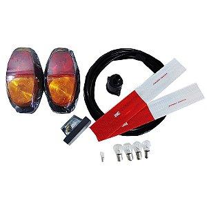 Kit Instalação Elétrica Lâmpada Carretinha Lanternas 3m 7via