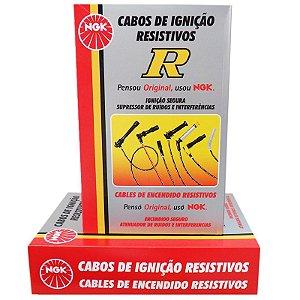 Cabo Ignição Original NGK Fiorino 1.0 8v  Gasolina /Alcool
