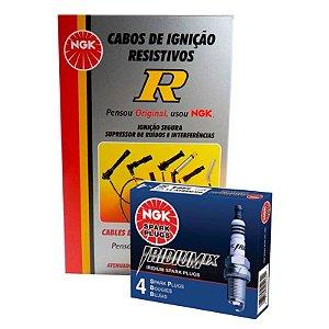 Kit Cabo Vela Iridium NGK Siena 1.0 8v Fire 02-03 Gasolina