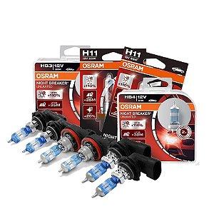 Kit Completo Lâmpada Night Breaker Subaru XV 12-13 Osram