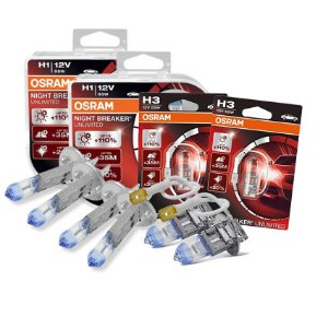 Kit Completo Lâmpada Night Breaker Lifan 620 09-13 Osram