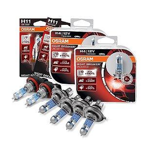 Kit Completo Lâmpada Night Breaker Honda New Fit 09-12 Osram