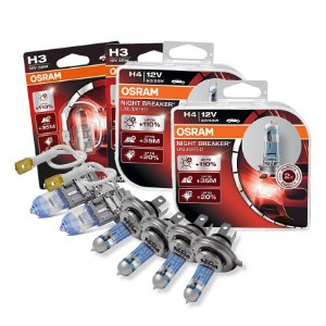 Kit Completo Lâmpada Night Breaker Jac J3 10-15 Osram