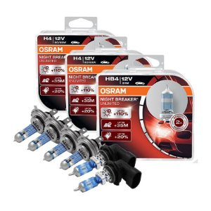 Kit Completo Lâmpada Night Breaker Gol G5 08-12 Osram