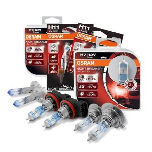 Kit Completo Lâmpada Night Breaker 500 Polones 09-16 Osram