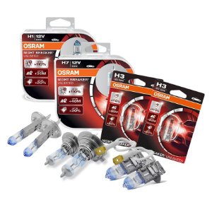 Kit Completo Lâmpada Night Breaker Corsa 02-18 Osram