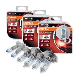 Kit Completo Lâmpada Night Breaker Fiat Strada 05-07 Osram