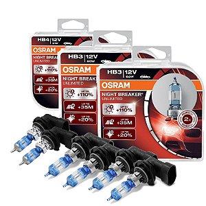 Kit Completo Lâmpada Night Breaker Blazer 96-00 Osram